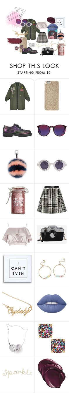"""""""On The Edge"""" by chiarab20 ❤ liked on Polyvore featuring WithChic, Michael Kors, A.F. Vandevorst, McQ by Alexander McQueen, Fendi, Chanel, Major Moonshine, Jill Stuart, River Island and WALL"""