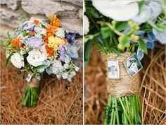 rustic wedding bouquet with the ones we have lost