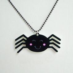 Cute spider Halloween necklace