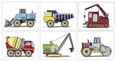 Construction Art, Boys Construction Trucks, Art Prints For Kids Construction Busy Builder Bedding, Room Decor by sweetpeasartstudio2 on Etsy https://www.etsy.com/listing/238429539/construction-art-boys-construction