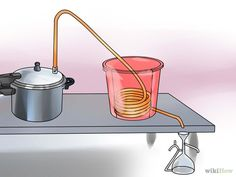Image titled Make Essential Oils Step 8 Image titled Make Essential Oils Step 8 . Essential Oil Still, Making Essential Oils, Homemade Still, Distilling Alcohol, Essential Oil Distiller, How To Make Oil, Medicinal Herbs, Natural Cosmetics, Soap Making