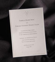 Get Bella And Edward S Wedding Invitation Twilight Planning Etiquette