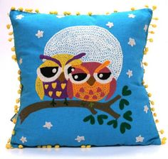 Watchful Eyes Love Owls Throw Pillow