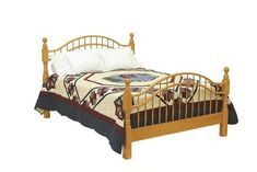 This Windsor Bow Bed is Amish handcrafted for each customer in your choice of hardwood, finish and size.
