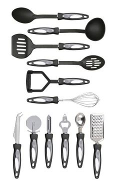 Premier Housewares 12Pc Black And Stainlee Steel Gadget Set * Find out more about the great product at the image link.