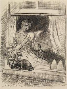 dibujo de John French Sloan