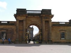 Chatsworth House in Derbyshire, England. Completed in the 1560's. Owned by the Dukes of Devonshire and the Cavendish. It was used as a country residence.