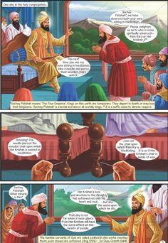 Guru Har Krishan - The Eighth Sikh Guru (English Graphic Novel) Guru Granth Sahib Quotes, Sri Guru Granth Sahib, Guru Harkrishan Ji, Guru Nanak Teachings, Guru Nanak Wallpaper, Nanak Dev Ji, Gurbani Quotes, History Of India, Divine Light