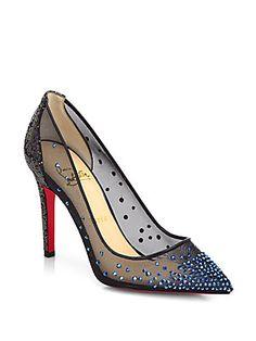 Surely better than Cinderella's glass slipper!! Christian Louboutin Body Strass Spotlight Pumps
