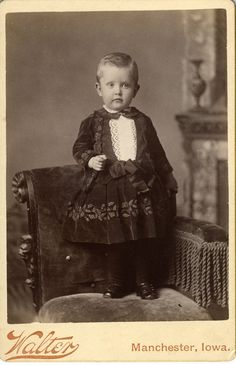 Victorian boy in short dress, Manchester, Iowa.