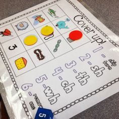 Digraph Cover Up! Fun phonics game to practice digraph sounds. Perfect for centers!