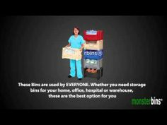 Stackable Storage Bins from Monster Bins.  Watch this video showing the different features and functionality of our Stackable Storage Bins.  #Stackable #storage #bins #efficiency #organization #stacking #plasticbins #plastic