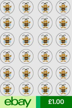 Bumblebee Bee Summer Edible Cupcake Wafer Paper Toppers x 24 Wafer Paper, Paper Cupcake, Summer Coloring Pages, Hello Kitty Cupcakes, Happy Birthday Candles, Disney Figurines, Spelling Bee, Unicorn Cake Topper, Bee Art