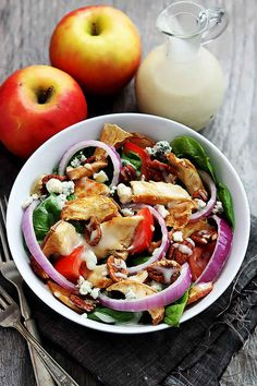 Fuji Apple Chicken Salad- Made with ripe apples instead of dried and used slightly different dressing. DELICIOUS!