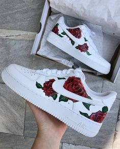 custom painted shoes Behind The Scenes By custom. Jordan Shoes Girls, Girls Shoes, Custom Painted Shoes, Nike Custom Shoes, Custom Made Shoes, Nike Shoes Air Force, White Nike Shoes, Aesthetic Shoes, Hype Shoes