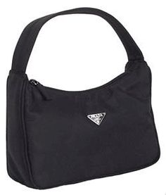 Amazon.com: Prada MV515 Handbag Black Tessuto Cosmetic Bag: Clothing