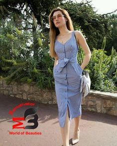 Minus the boobage Cotton midi dress with bow 41 Summer Fashion 2019 To Rock Your Winter Style Simple Dresses, Cute Dresses, Casual Dresses, Fashion Dresses, Trendy Outfits, Summer Outfits, Look Fashion, Fashion Design, Fashion Women