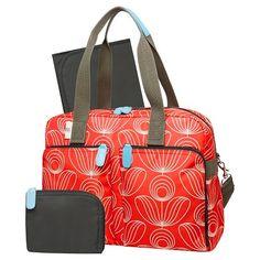 Orla Kiely Diaper Bag Tote - Red White Stem Flower Print. target.com 382860328cd4d