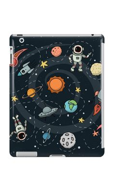 Outer Space Planetary Illustration   RedBubble iPad Case & Skin   All Sizes Available for Men and Women at our RedBubble Store