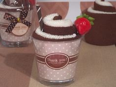 Sweet Treats Collection Chocolate Sundae towel favor