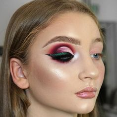 Bold Makeup Look | Full Face Makeup Application | Purple Pink Green White Eyeshadows | Flawless Glowing foundation and Skin | Heavy Glam Makeup | Instagram Fluffy Eyebrows | Nude Lipstick and lipgloss | Black winged Liner | Half Cut Crease Blown Out eye makeup  #makeup #eyemakeup #liner #cutcrease #eyeshadow #eyes #glowing #eyebrows  Pin: @amerishabeauty