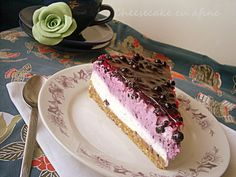 Arome si culori : Cheesecake cu afine
