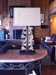 Shabby Chic Ornamental Iron Lamp with by Marascalco Metalworks, $350.00