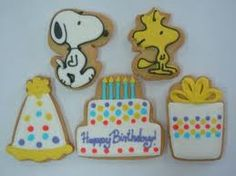 Birthday cookies with Snoopy and Woodstock
