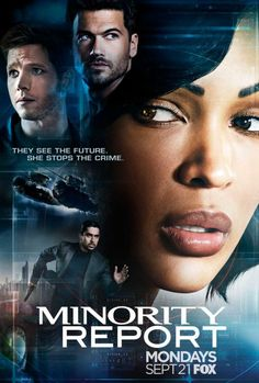 Meagan Good, Stark Sands, Nick Zano & Wilmer Valderrama in Poster for FOX's 'Minority Report'