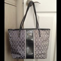 Nine West Handbag Black and Gray Nine West Bags