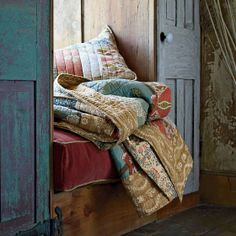 Jaipur Quilt in a sleeping nook | The Company Store