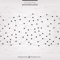 Vector triangles network background Free Vector