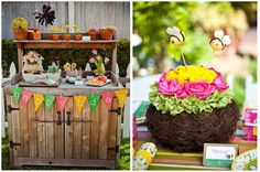 """Gardening Party Inspiration on Pizzazzerie with a """"Create Your Own Mud Dessert"""" Station"""