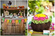 Little Girls' Gardening Birthday Party on http://pizzazzerie.com