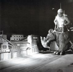 ::: I want Godzilla suspender-footie-pants! ::: http://cdn3.retronaut.co/wp-content/uploads/2012/07/Godzilla-1954.jpg