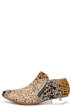 Epic Leopard Pony Fur and Lucite Booties ❤︎
