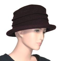 9dd9a14e2d3 Scala Collezione Women s Boiled 100% Wool Cloche Hat