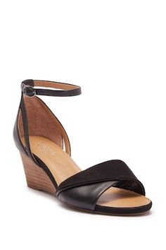 ab5d0129d07 Deirdra Wedge Ankle Strap Sandal - Wide Width Available Franco Sarto