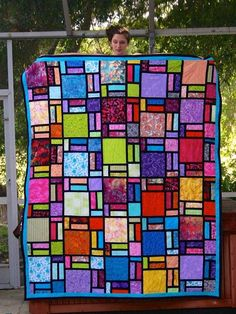 1000 Images About Stained Glass Quilts On Pinterest