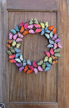 Spring Wreath Butterfly Wreath Butterfly Summer Wreath   Etsy Butterfly Gifts, Butterfly Decorations, Wreaths For Front Door, Door Wreaths, Acorn Wreath, Crochet Wreath, Autumn Wreaths, Wreath Crafts, Perfect Christmas Gifts
