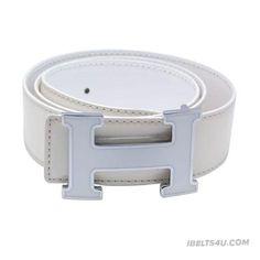 Stylish Hermes H Letter White Buckle Mens Belt