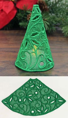 Filigree Tree with Holly and Berries (Lace)