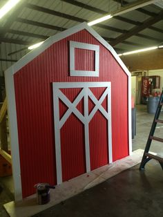 Barn prop for Barnyard theme party.