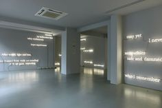 one part of the installation 'the wake (an arrangement of references with all the appearance of autonomy)' by joseph kosuth, 2012  hand-bent neon  image © kuad gallery