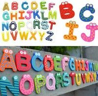 Wish | SuperDeals Fridge Wooden Magnet Baby /Child Toy A-Z Educational Alphabet 26 Letters HI