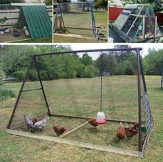 Swing Set Chicken Coop