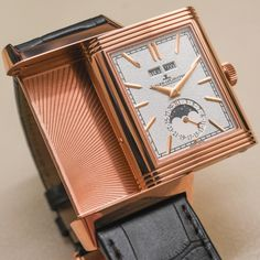 "Jaeger-LeCoultre Reverso Tribute Calendar Watch Hands On - by Zach Pina - More on this rose gold tribute a classic at: aBlogtoWatch.com - ""Bucking the current trend in watchmaking where 'old' is hot, but 'too-old' is not, the Jaeger-LeCoultre Reverso spent the year celebrating its 85th birthday with the Tribute Calendar announced at SIHH 2016 – a fully modern, yet carefully preserved icon that we recently had a chance to experience..."""