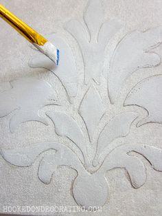 Raised stencils using Golden Light Molding Paste.