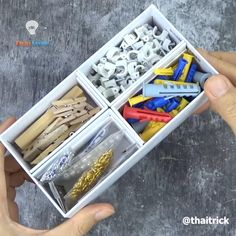 Cardboard Box Storage, Craft Storage Box, Cardboard Crafts, Diy With Cardboard Boxes, Cute Storage Boxes, Cardboard Organizer, Decorative Storage Boxes, Diy Crafts Hacks, Diy Home Crafts