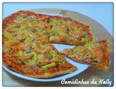 Pizza de salmao fumado com ananas